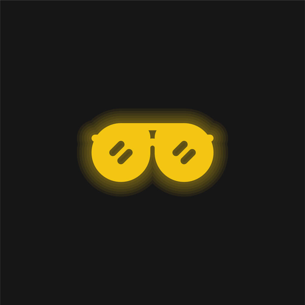 Accessory yellow glowing neon icon