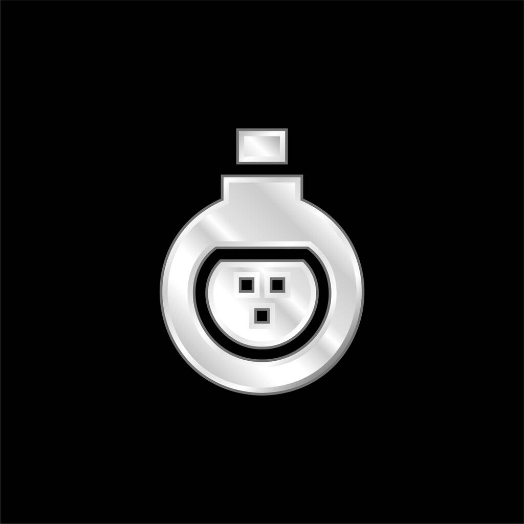 Antidote silver plated metallic icon
