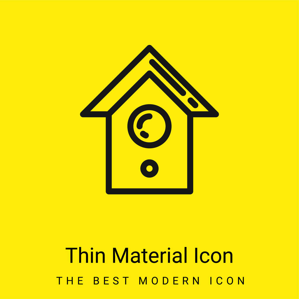 Bird House minimal bright yellow material icon