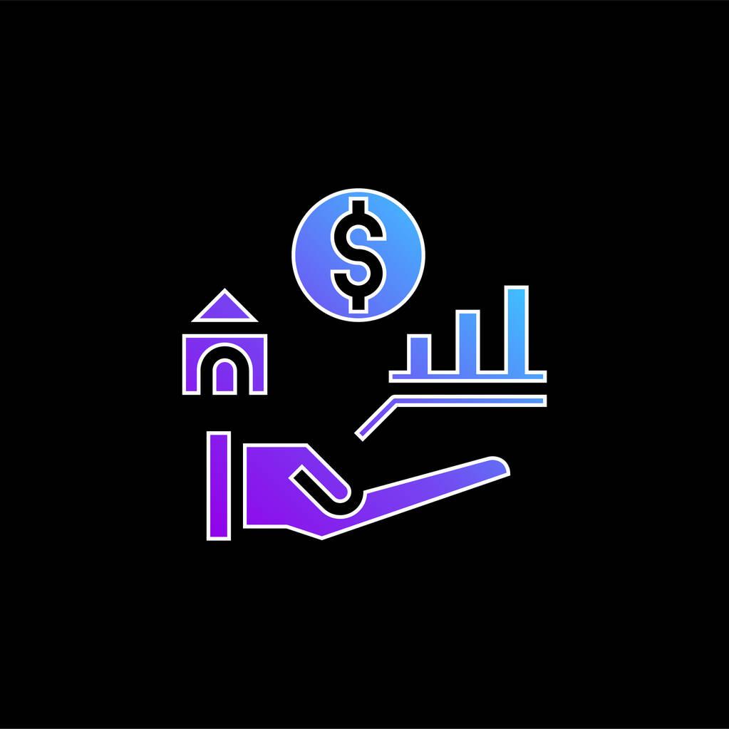 Benefits blue gradient vector icon