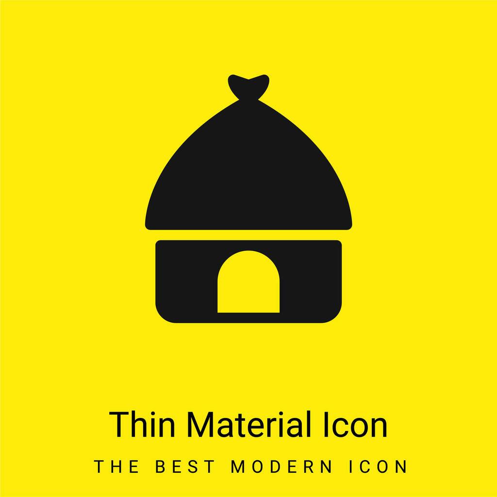 African minimal bright yellow material icon