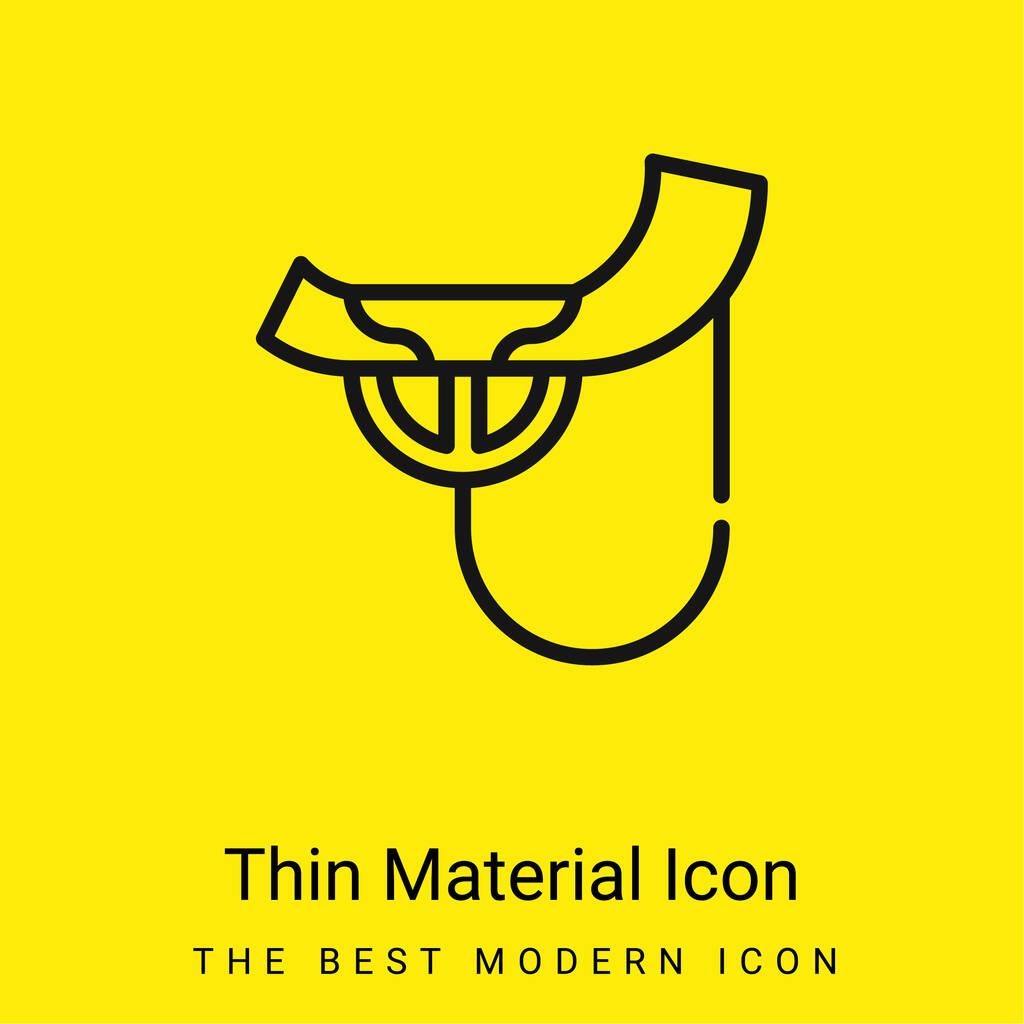 Alboka minimal bright yellow material icon