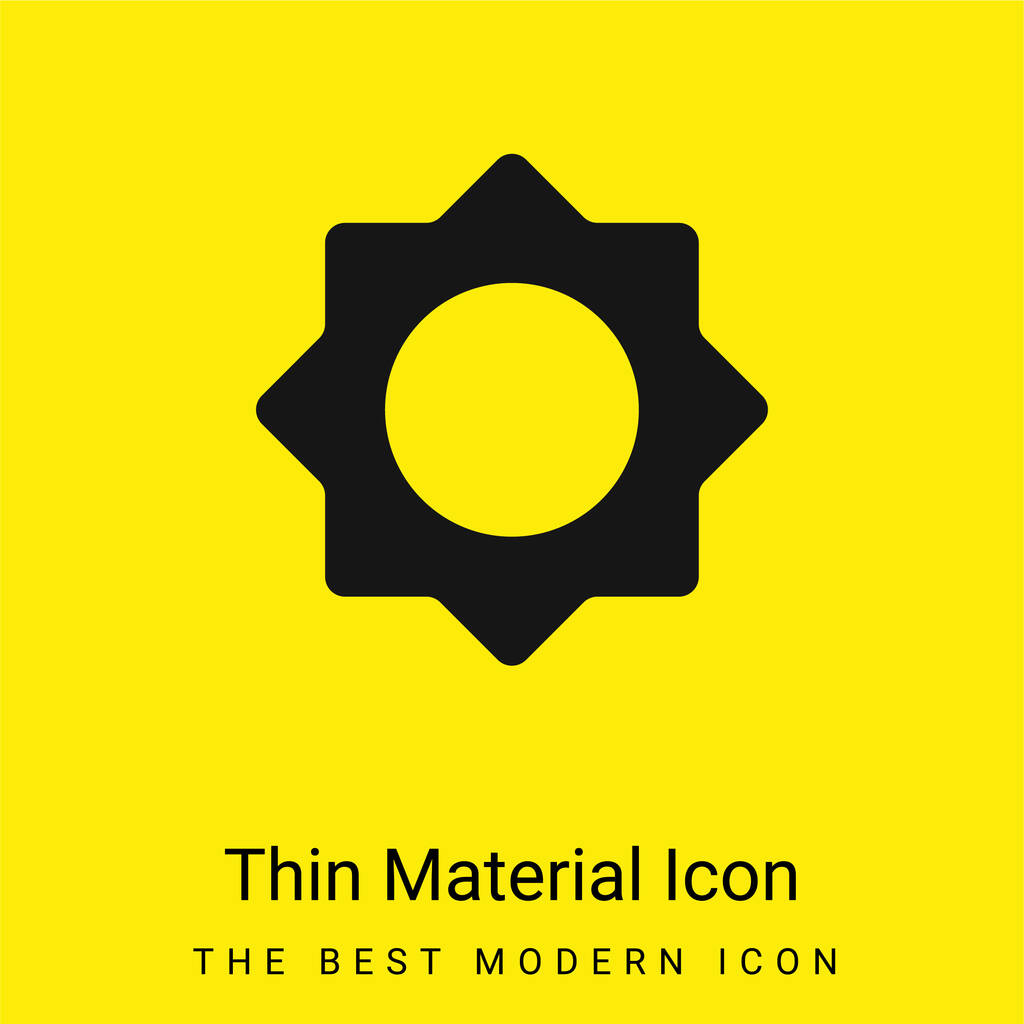Astrological Sun minimal bright yellow material icon