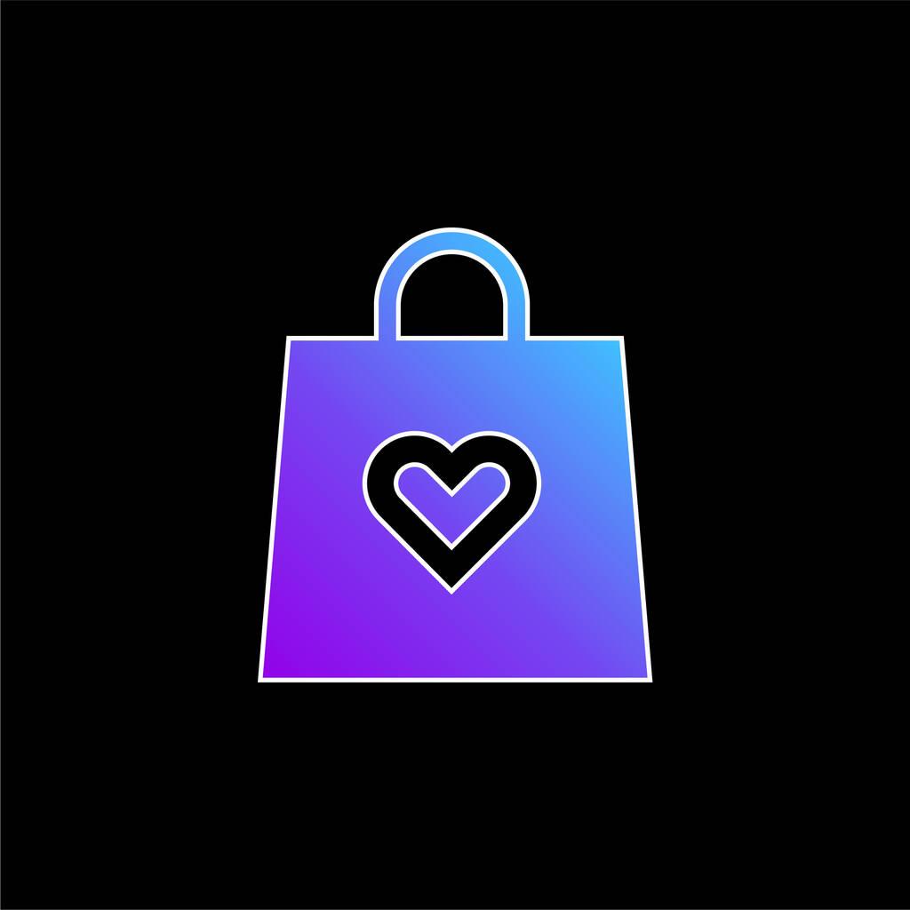 Bag blue gradient vector icon