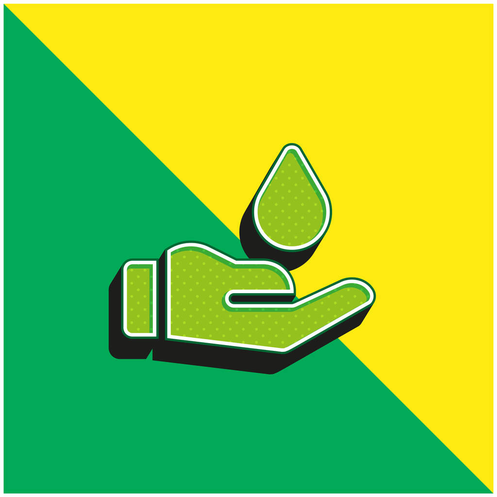 Blood Donation Green and yellow modern 3d vector icon logo