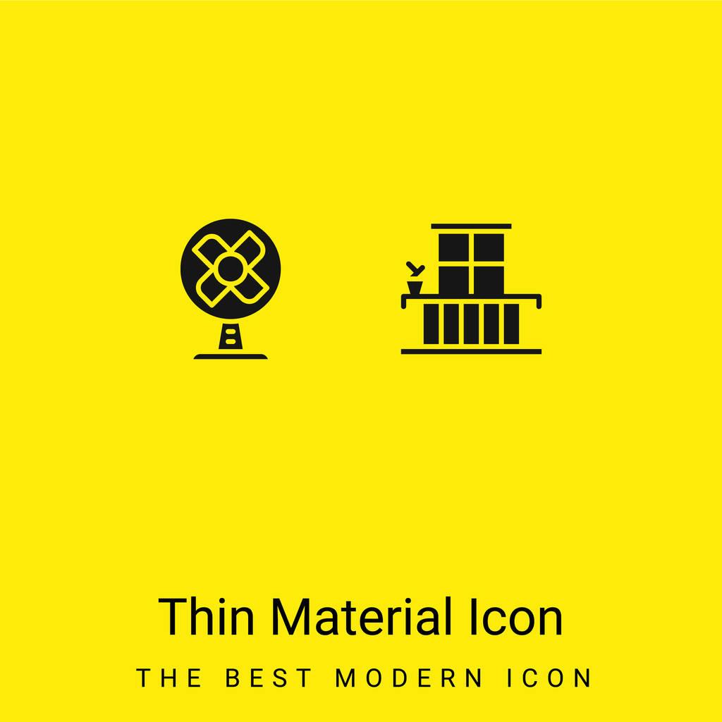 Balcony minimal bright yellow material icon