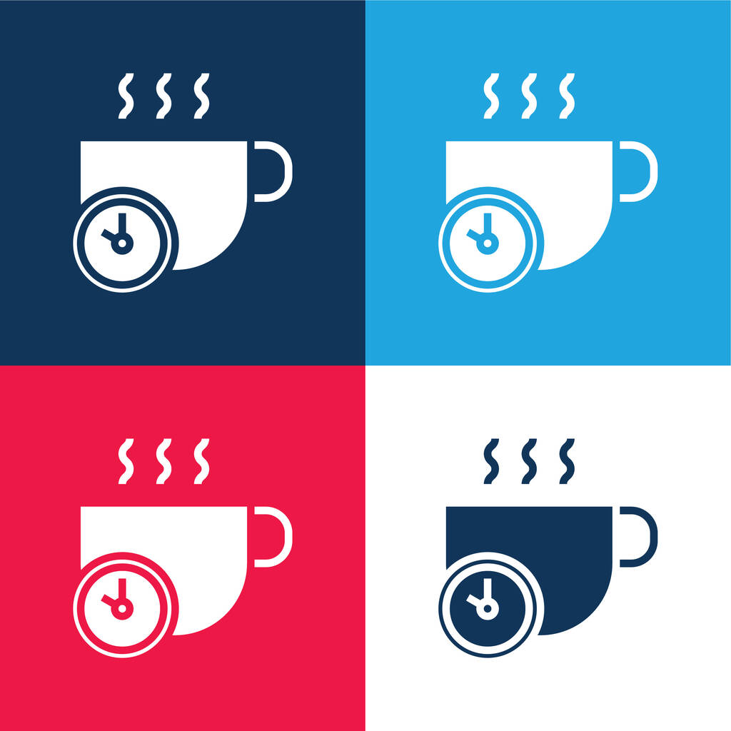 Break blue and red four color minimal icon set