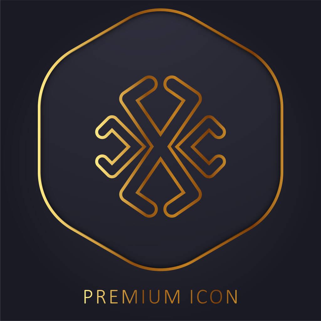 Astrological Line Symbol golden line premium logo or icon