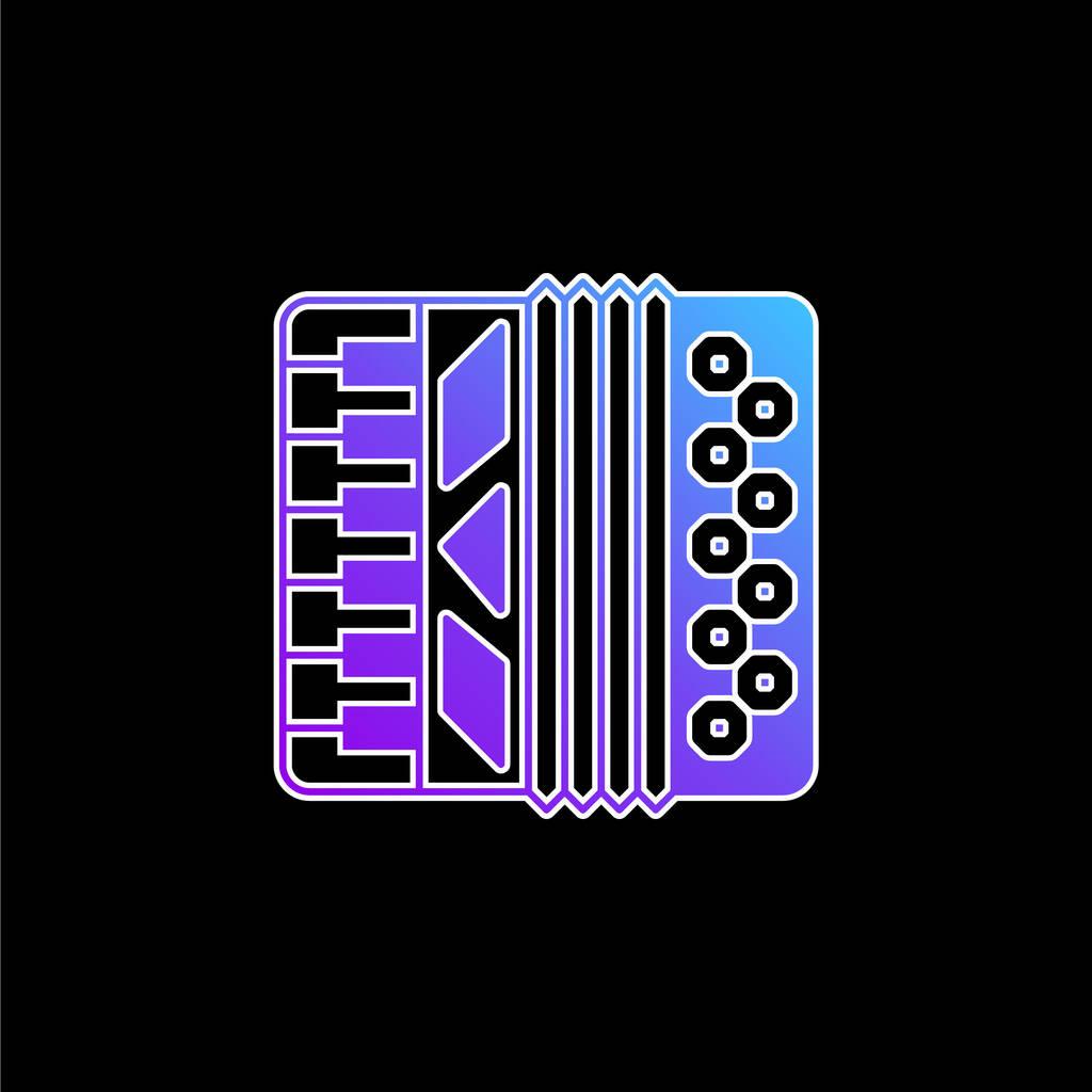 Accordion blue gradient vector icon