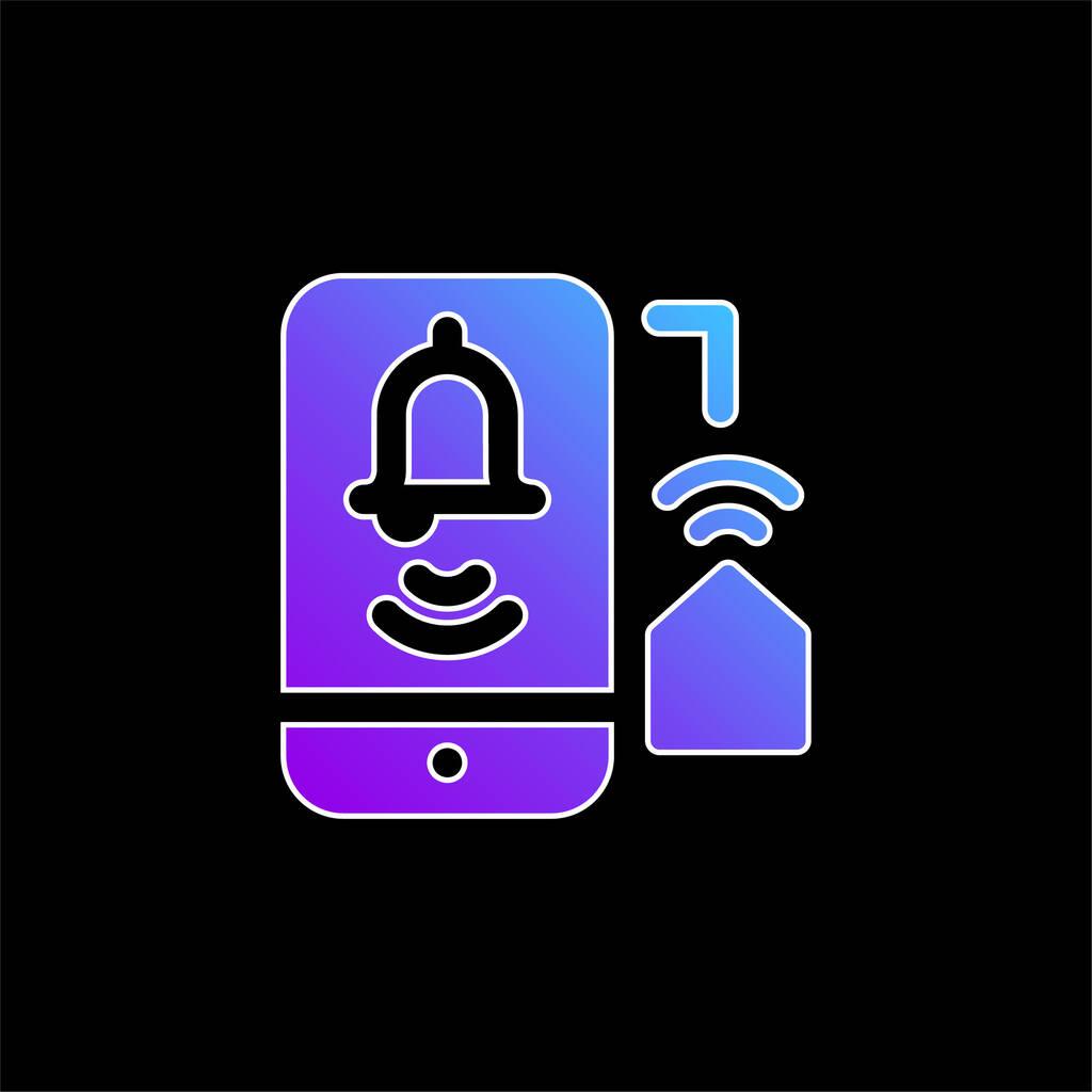 Alarm blue gradient vector icon
