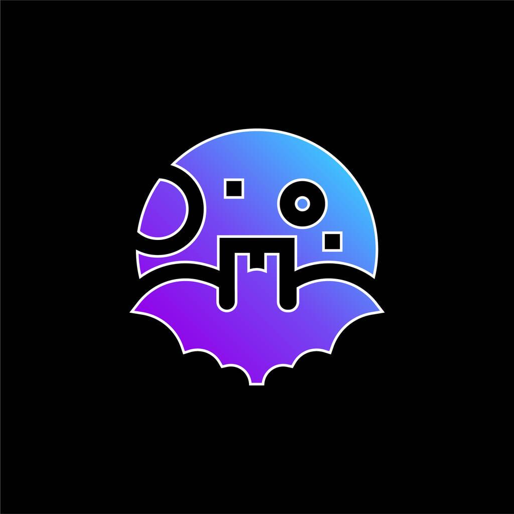 Bat blue gradient vector icon