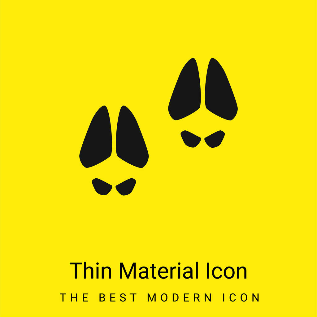 Animal Footprints minimal bright yellow material icon