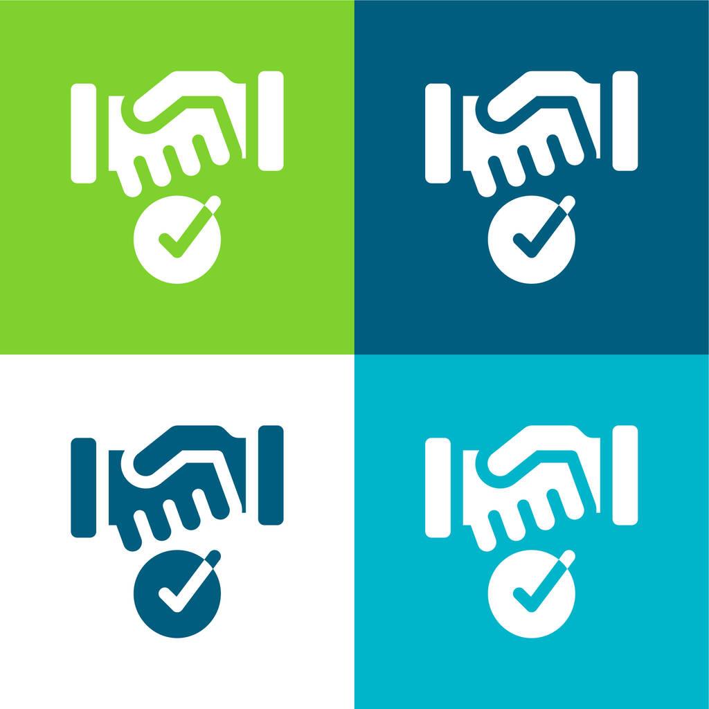 Agreement Flat four color minimal icon set