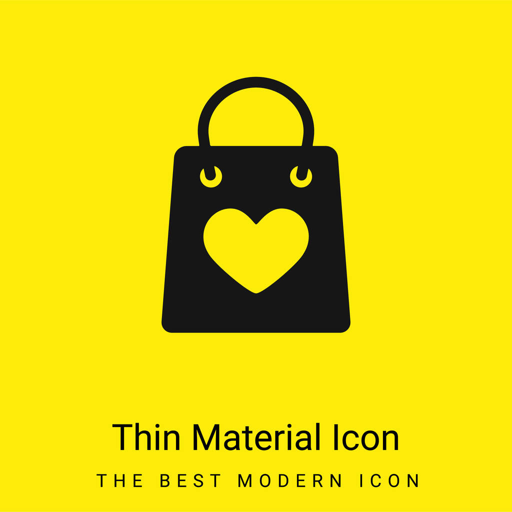 Bag With A Heart minimal bright yellow material icon