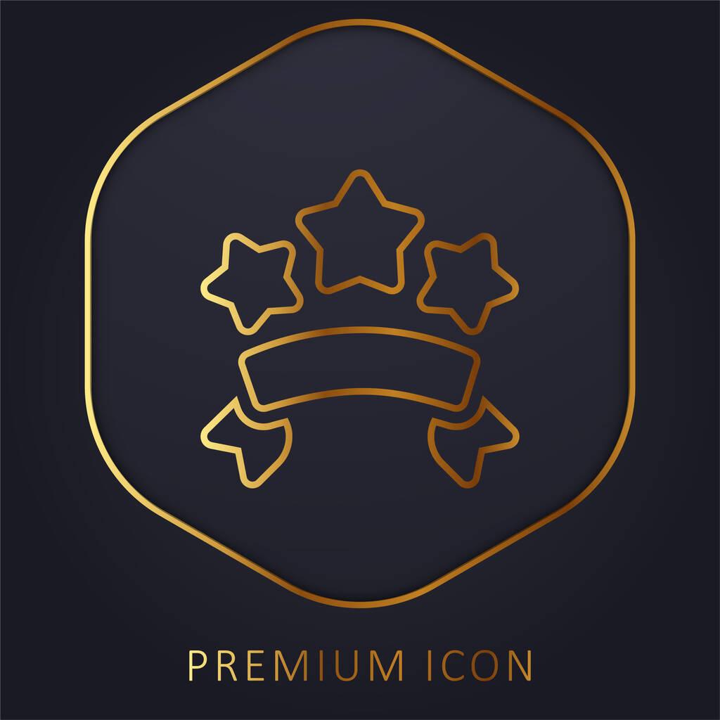 Banners golden line premium logo or icon