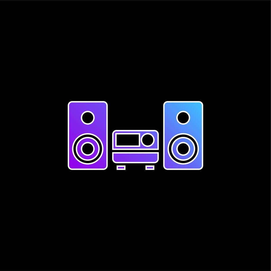 Audio Equipment blue gradient vector icon