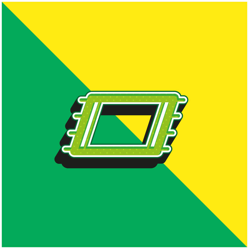 Beach Towel Green and yellow modern 3d vector icon logo