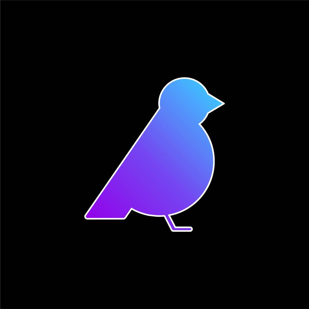 Bird Facing Right blue gradient vector icon
