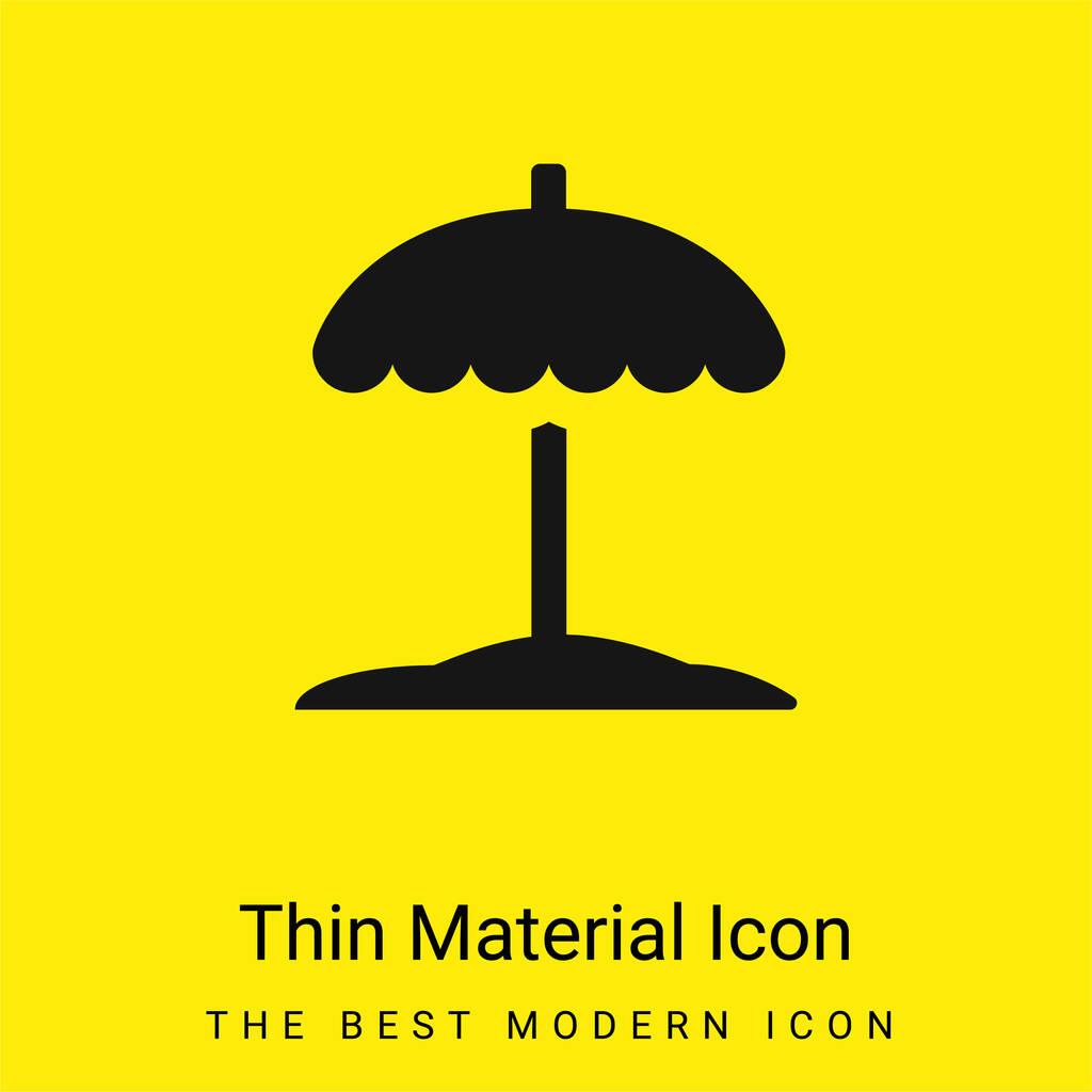 Beach minimal bright yellow material icon