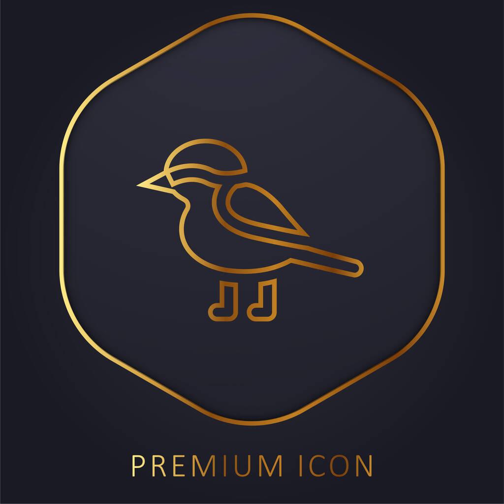 Bird golden line premium logo or icon