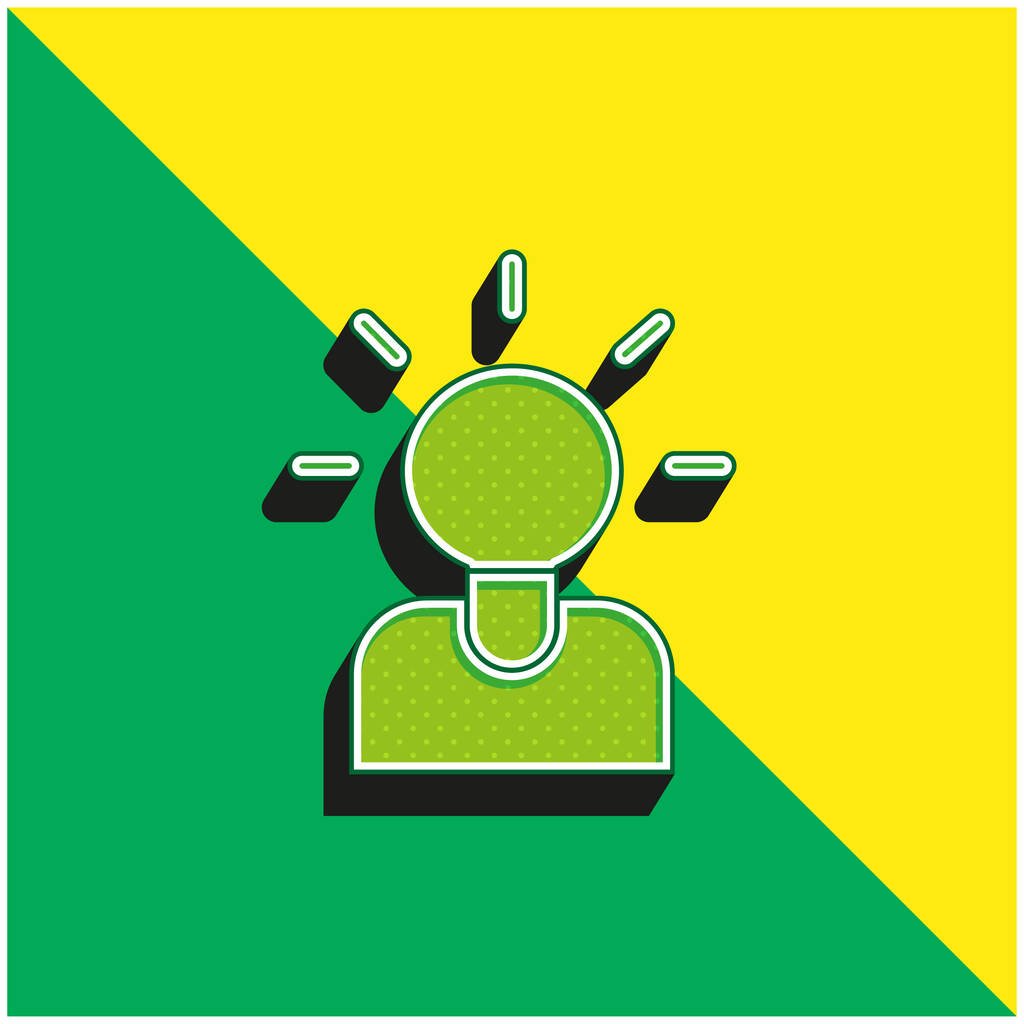 Brainstorming Green and yellow modern 3d vector icon logo