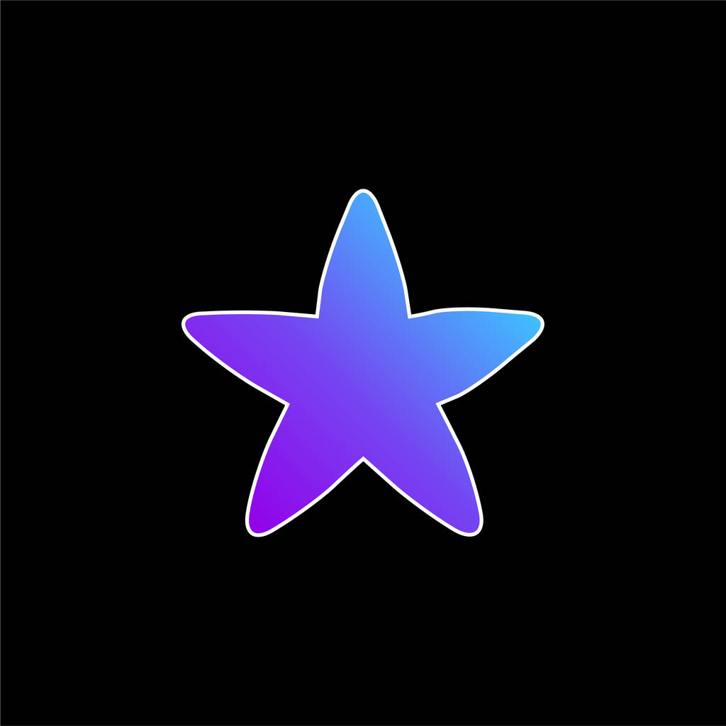 Black Rounded Star blue gradient vector icon