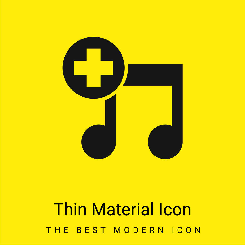 Add Song Interface Symbol minimal bright yellow material icon