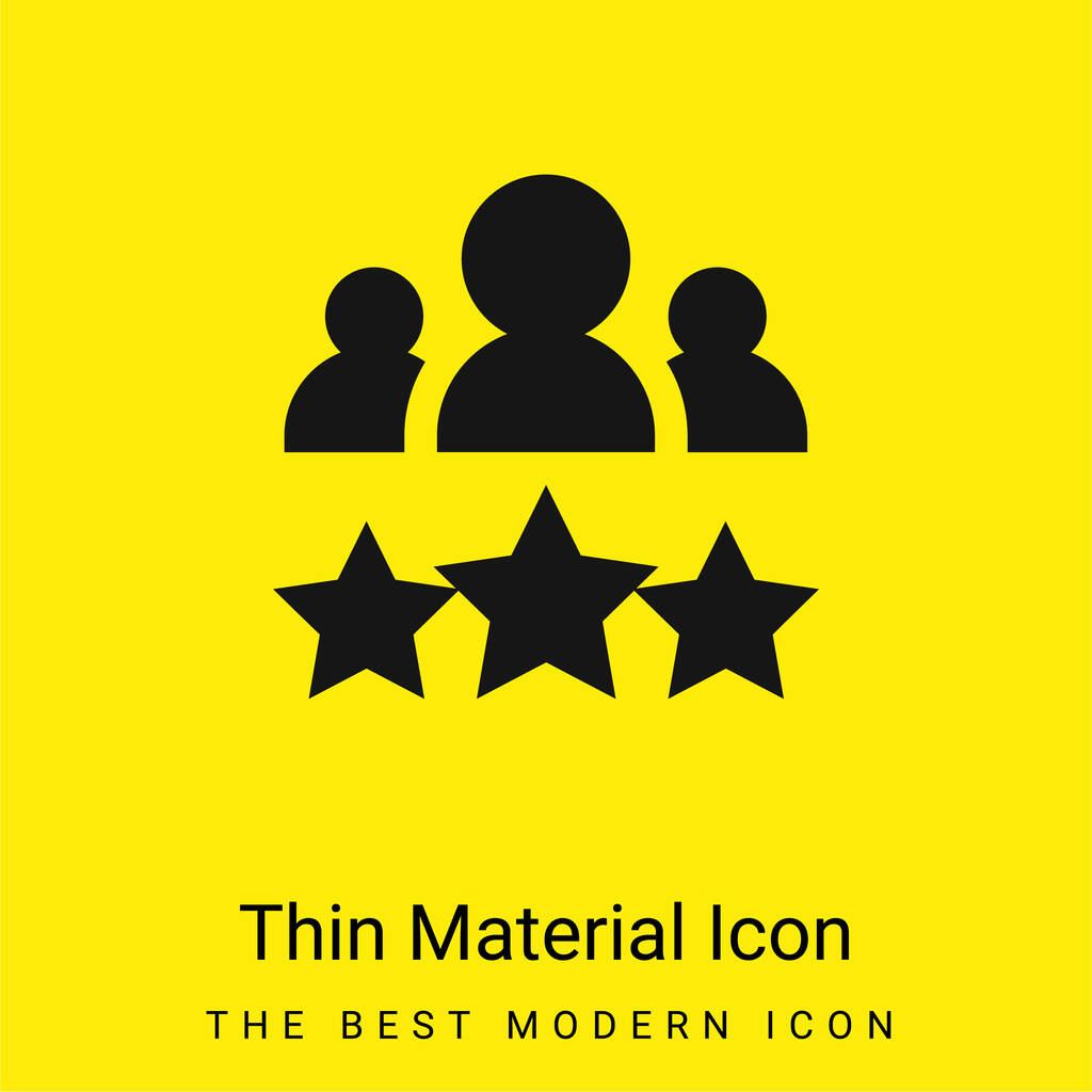 Best Employee minimal bright yellow material icon