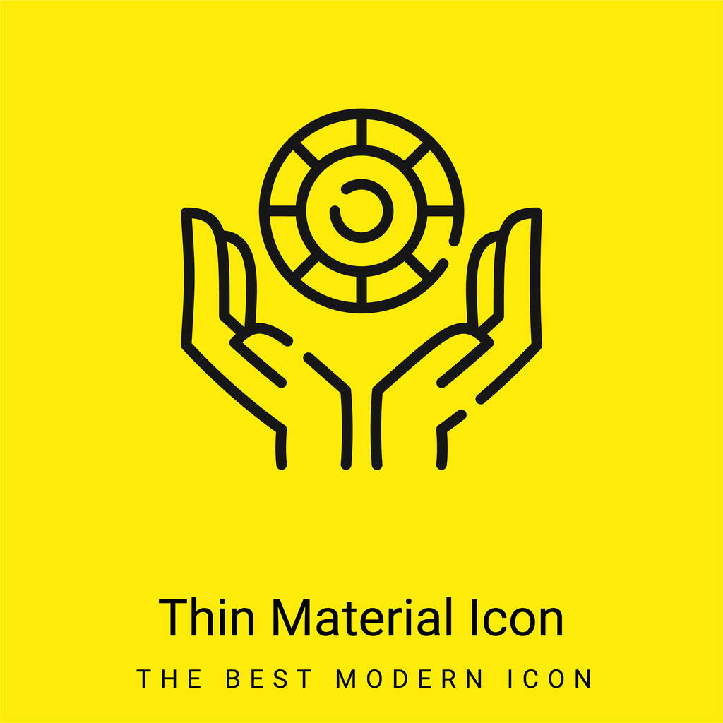 Bet minimal bright yellow material icon