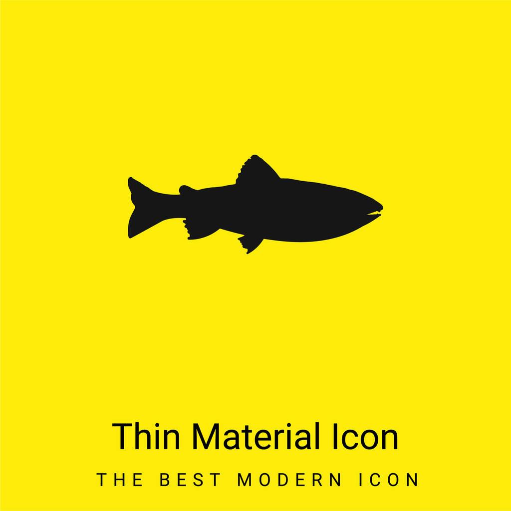 Amago Fish Shape minimal bright yellow material icon
