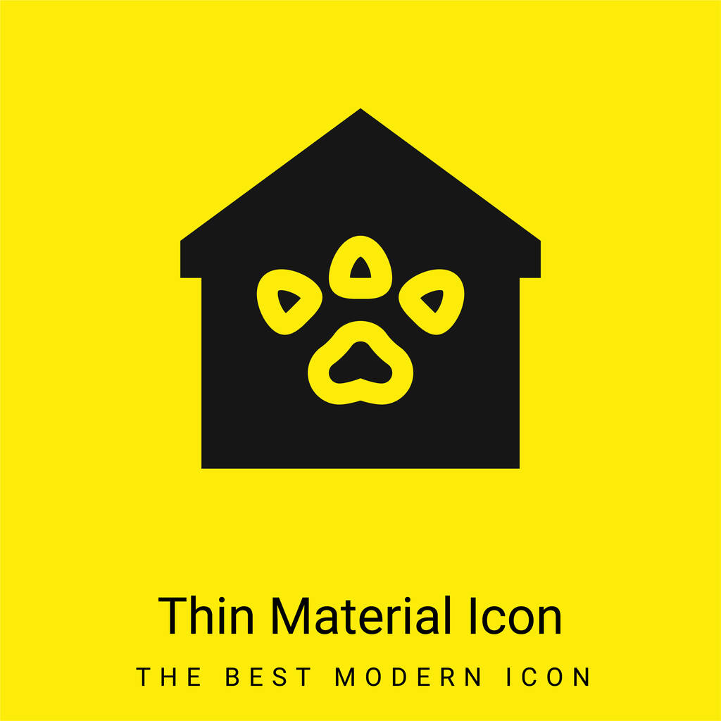 Animal Shelter minimal bright yellow material icon