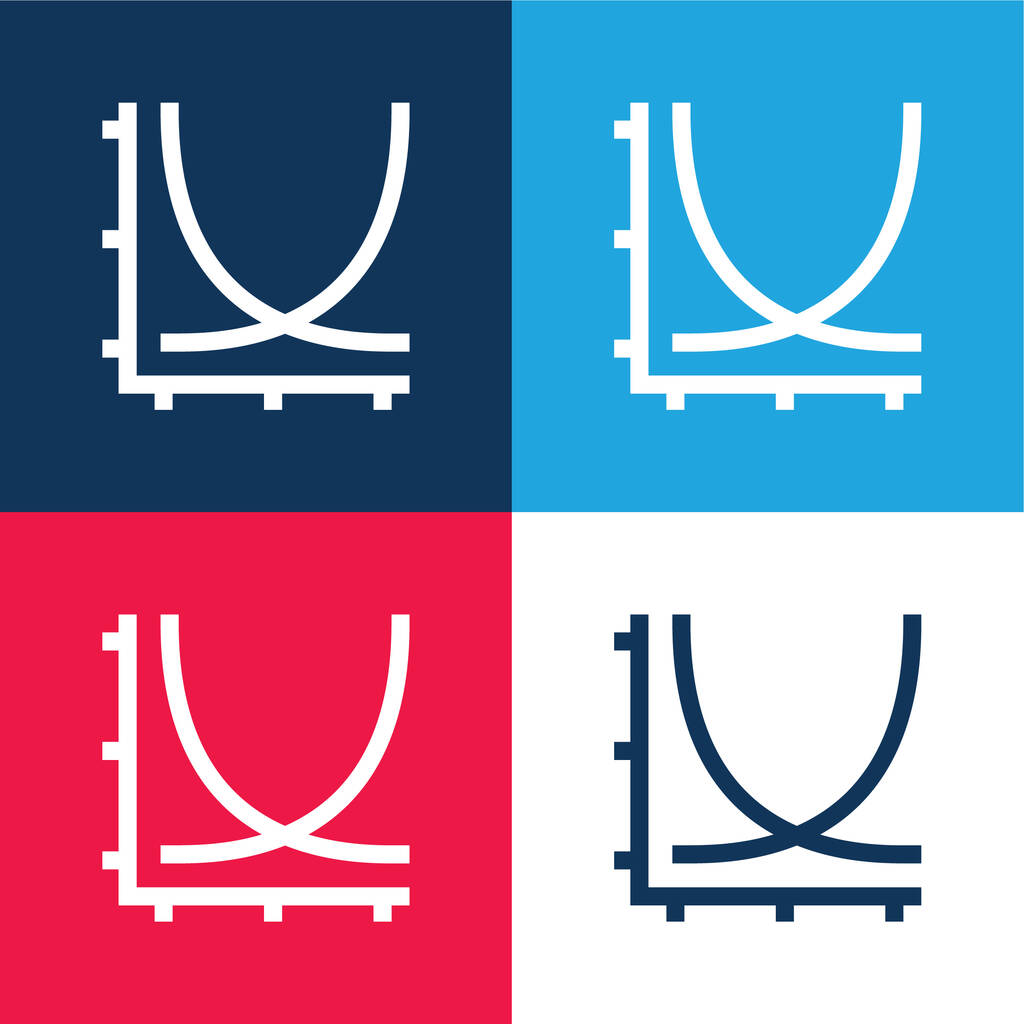 Axis blue and red four color minimal icon set