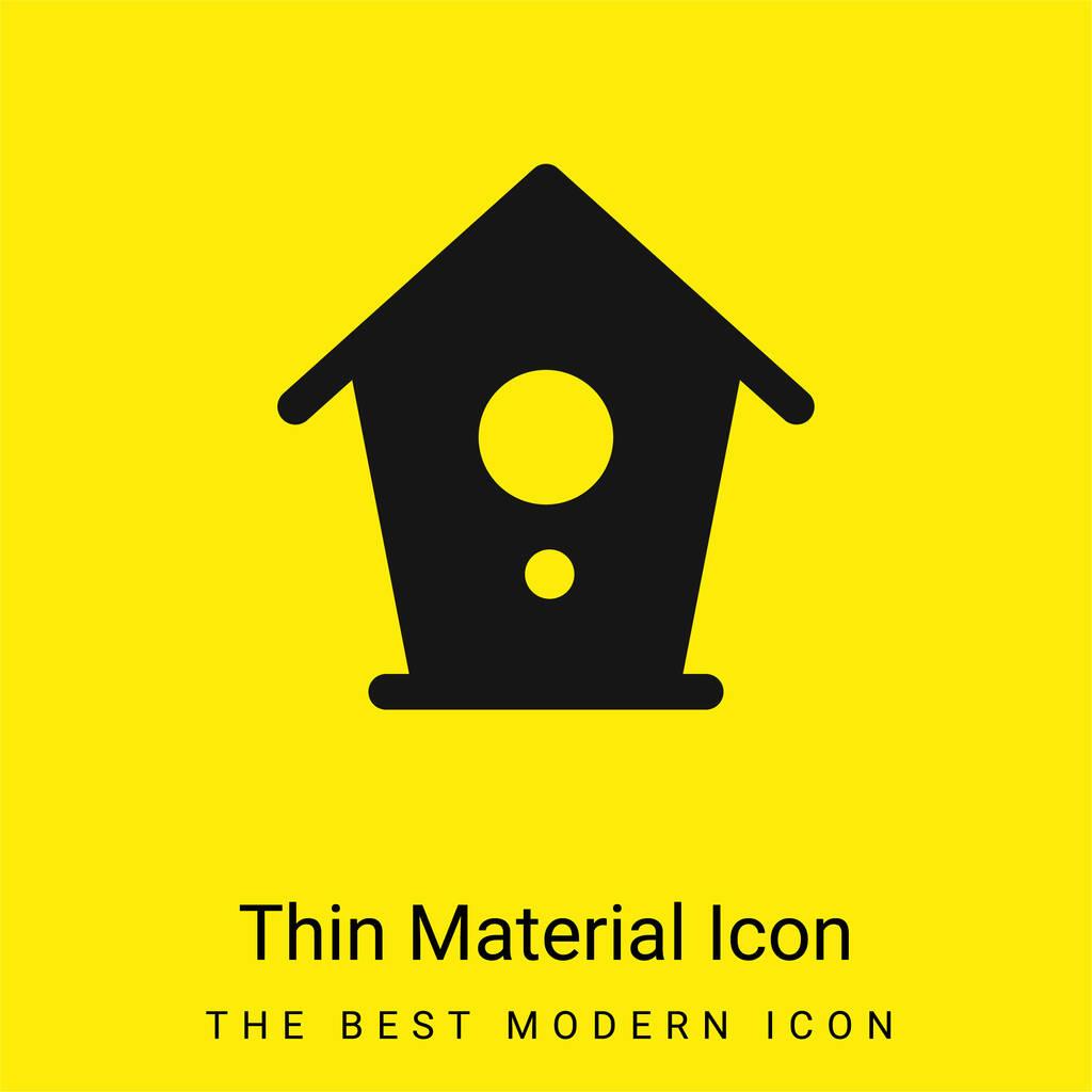 Birdhouse minimal bright yellow material icon