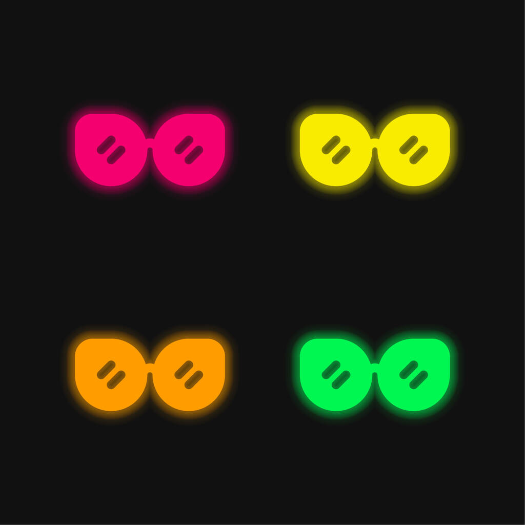 Accessory four color glowing neon vector icon