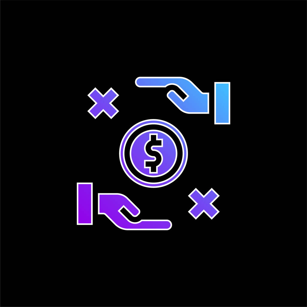 Bribe blue gradient vector icon