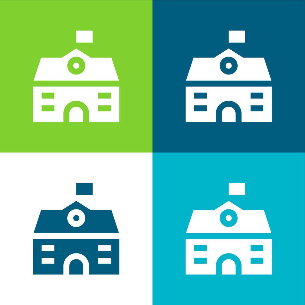 Big House Flat four color minimal icon set