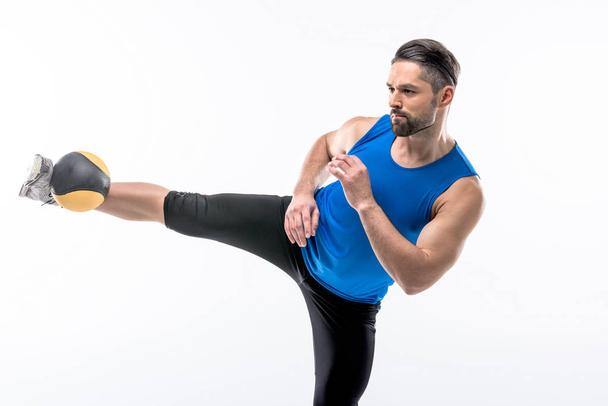 Man exercising with ball - Photo, Image