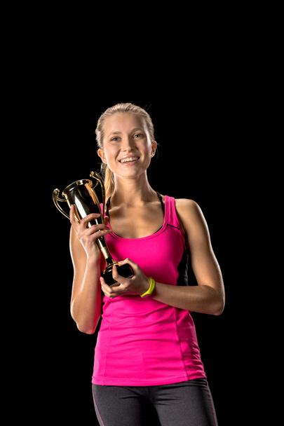 Sportswoman celebrating victory - Photo, Image