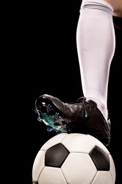 Foot on soccer ball - Photo, Image