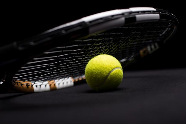 Tennis ball and racquet    - Photo, Image