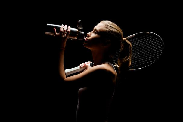 Tennis player with bottle - Photo, Image