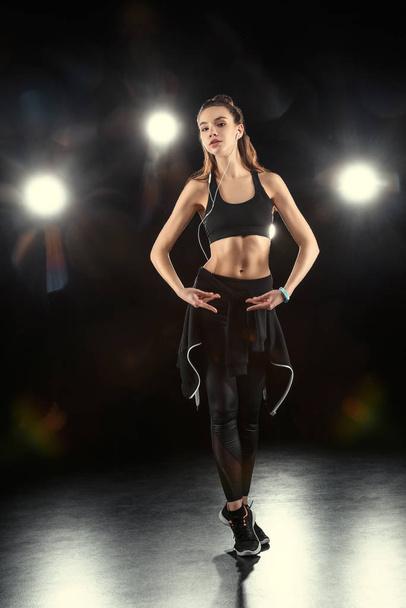 dancing sporty woman - Photo, Image