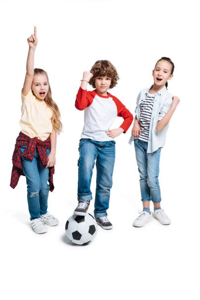 Children playing football - Photo, Image