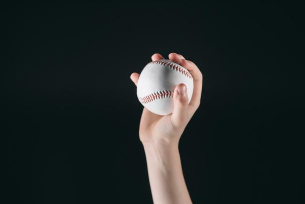 kid holding baseball ball - Photo, Image