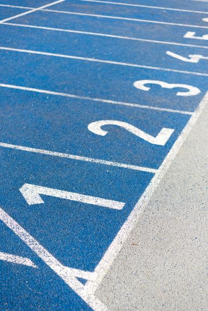 numeration of running track - Photo, Image