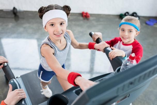 Girls exercising in gym  - Photo, Image