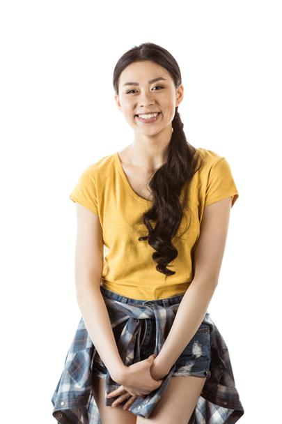 smiling casual asian girl - Photo, Image