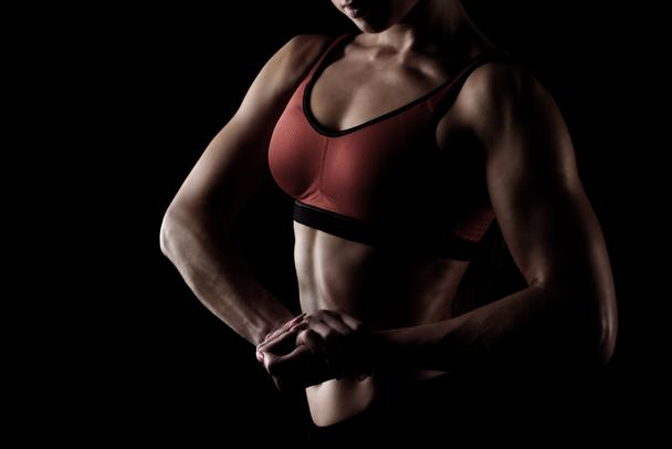 sportswoman posing in sportswear - Photo, Image
