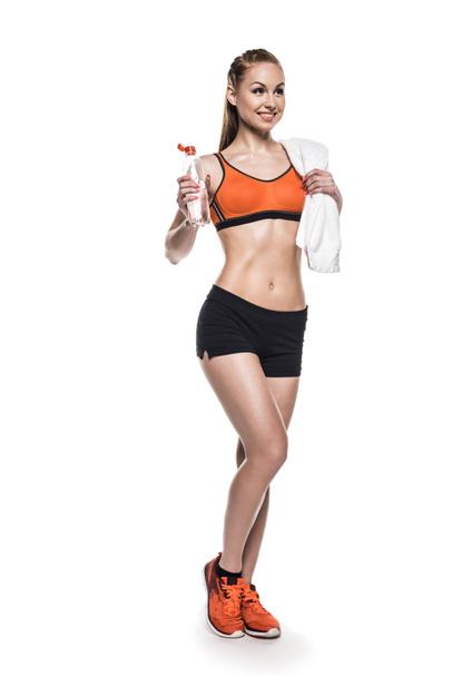 sportswoman holding sport bottle  - Photo, Image