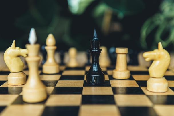 Chess board set during the game - Photo, Image